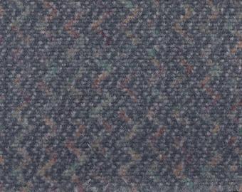 BTY Vintage 1997 Ford Grey Blue Plush Velour Auto Upholstery w/ Zig Zag Pattern