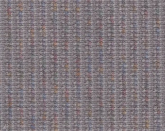 BTY Vintage Grey Plush Striped Velour Auto Upholstery