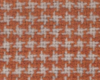 BTY vintage 1978 General Motors gold and white houndstooth upholstery