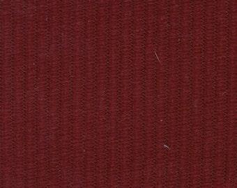 1 1/3 Yards Vintage 1974 Chevrolet Laguna / Malibu Custom / Camaro II Red Cloth Velour Auto Upholstery w/ Ridges