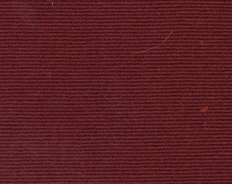 1 2/3 Yards Vintage Dark Red Cloth Auto Upholstery w/ Ridges
