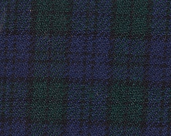BTY Vintage 1969-1971 Ford Mecury / Maverick / LTD / Marquis / Brougham Blue Green Plaid Auto Upholstery