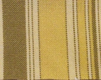 BTY vintage auto upholstery yellow stripes 1977 Chevy Chevette