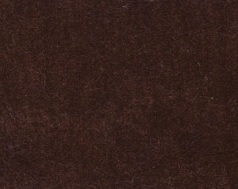 1 1/2 Yards Vintage Brown Plush Velour Auto Upholstery