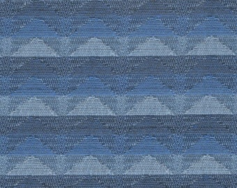 1 yard mid century 1962 Plymouth upholstery rows of blue triangles