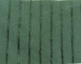 BTY vintage 1979 Oldsmobile auto upholstery 2 tone green striped velvet
