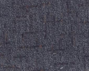 1 3/4 Yards Vintage 1996 Honda Dark Grey Tweed Plush Velour Auto Upholstery