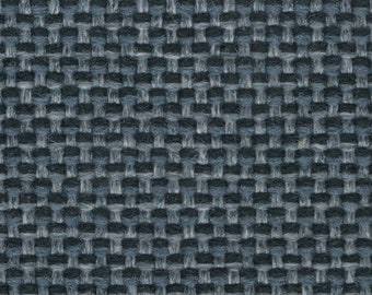 1 1/3 yards blue woven 1987 Chevrolet upholstery fabric