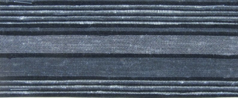 ROLL END 1.5 yards 1950s auto upholstery white grey black stripes