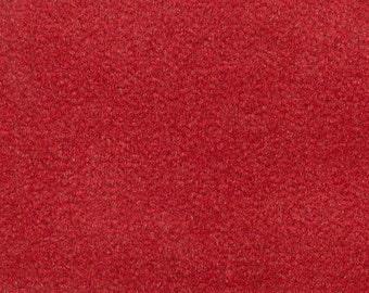 BTY Vintage Orange Red Plush Velour Auto Upholstery