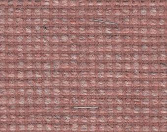 BTY vintage dusty pink tweed upholstery fabric