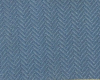 BTY vintage Buick Apollo upholstery fabric blue chevron