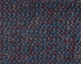 BTY Vintage Grey Plush Velour Auto Upholstery w/ Multicolored Zig Zags