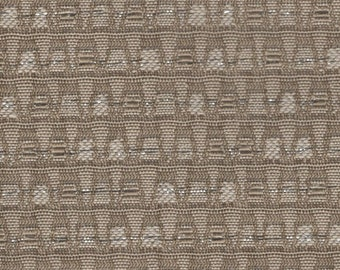 About 1.5 yards (2 pieces) 1963 1/2 Ford Falcon upholstery fabric brown abstract stripe