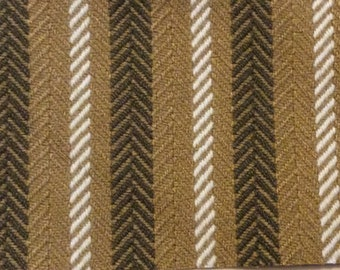 BTY mid century auto upholstery fabric gold or green 1974