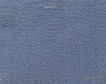 BTY vintage auto upholstery BRAVADO CLOTH satin grey blue 1974