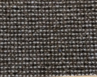 BTY mid century auto upholstery woven greys and white 1985 Chevy