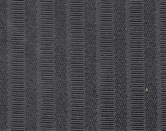 BTY mid century subtle black woven striped upholstery