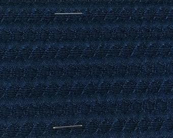 BTY mid century auto upholstery fabric Navy Blue 1965 Pontiac