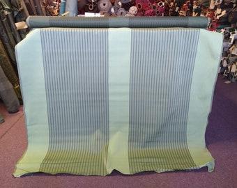 2 1/4 yards mid century 1960 Chevrolet Avocado Green striped panel upholstery fabric