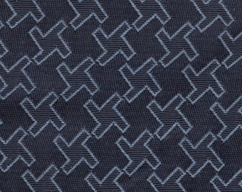 1 1/2 yards cool vintage 1992 Ford upholstery fabric blue abstract design