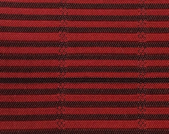 BTY mid century 1961 Chevrolet auto upholstery woven red stripe