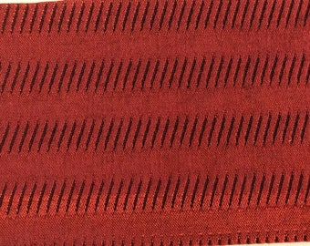 BTY mid century auto upholstery fabric satin abstract stripe 1965 Falcon 2 COLORS