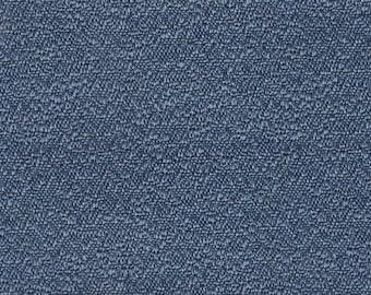 BTY Vintage 1973 Pontiac Bravo Blue Textured Satin Cloth Auto Upholstery