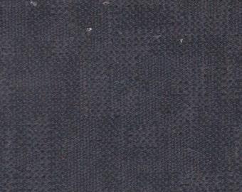 1 1/3 Yards Vintage 1998 Nissan Dark Grey Plush Velour Auto Upholstery w/ Blocks