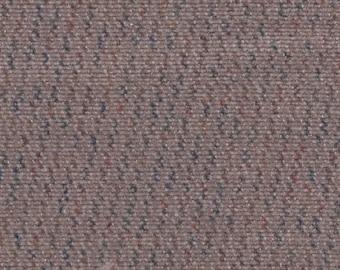 BTY Vintage Tan Plush Velour Auto Upholstery w/ Diagonal Stripes