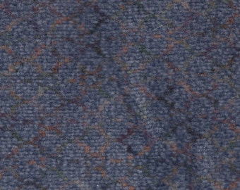 1 7/8 Yards Vintage 1996 Buick Blue Grey Plush Velour Auto Upholstery w/ Abstract Pattern