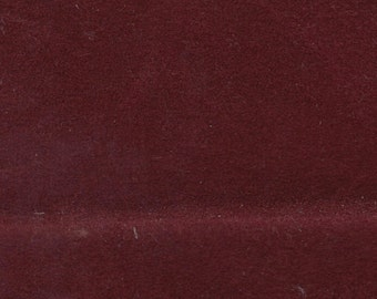 BTY Vintage 1989 Ford Dark Red Velour Auto Upholstery