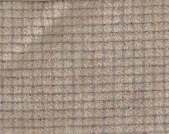 BTY Vintage Tan Plush Velour Auto Upholstery w/ Window Pane Texture