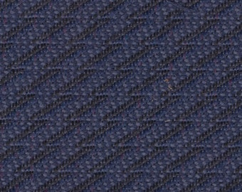 1 1/2 Yards Vintage Blue Cloth Auto Upholstery w/ Diagonal Stripes