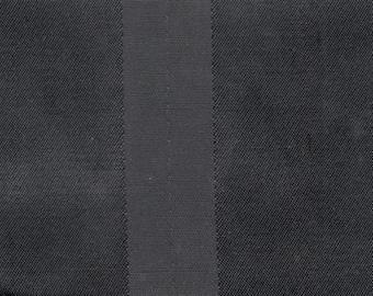 BTY mid century black satin stripe upholstery fabric