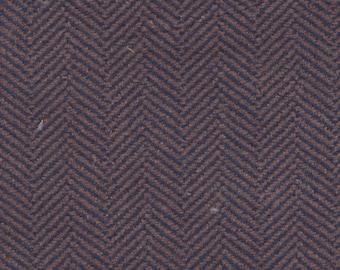 1 2/3 Yards Vintage Blue and Tan Chevron Plush Velour Auto Upholstery