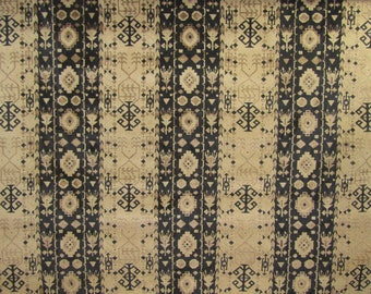 BTY great vintage auto upholstery fabric TRIBAL design