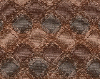 BTY 1950s auto upholstery copper with brown circles