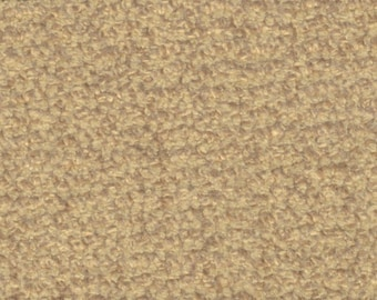 1 1/4 yards cool yellow gold boucle vintage upholstery