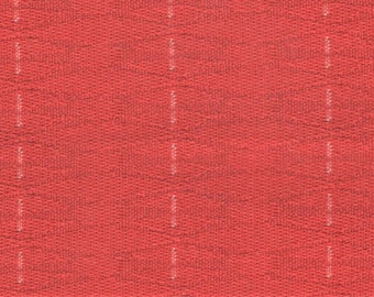 1 yard cool 1965 Plymouth red abstract design upholstery fabric