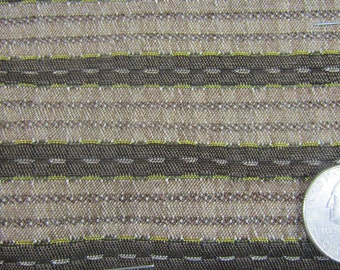 REMNANTS 1961 Pontiac upholstery fabric 3 large pieces brown stripe