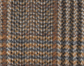 Almost 2 yards vintage 1978 Chevrolet Camaro grey and gold upholstery fabric