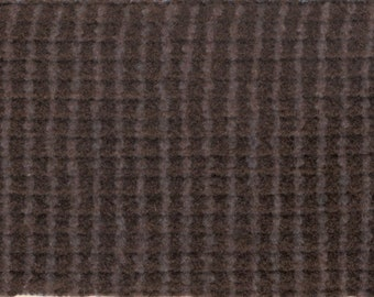BTY vintage auto upholstery plush velour wine and grey check