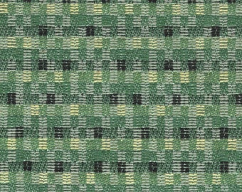BTY 1960 Ford auto upholstery fabric small green/white squares