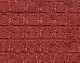 1 yard really cool 1962 Chevy reddish orange auto upholstery fabric