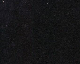 1 1/2 Yards Vintage Black Plush Velour Auto Upholstery