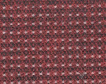 BTY vintage 1981 Ford Mercury dark red black and white tweed upholstery