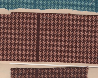 BTY vintage 1960 Chevrolet houndstooth upholstery 2 COLORS