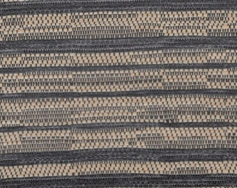BTY mid century 1960 Dodge tan and black woven upholstery