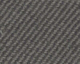 BTY vintage auto upholstery fabric grey diagonal stripe